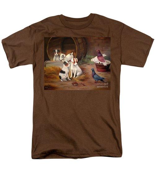 Curious Friends Men's T-Shirt  (Regular Fit) by Hazel Holland