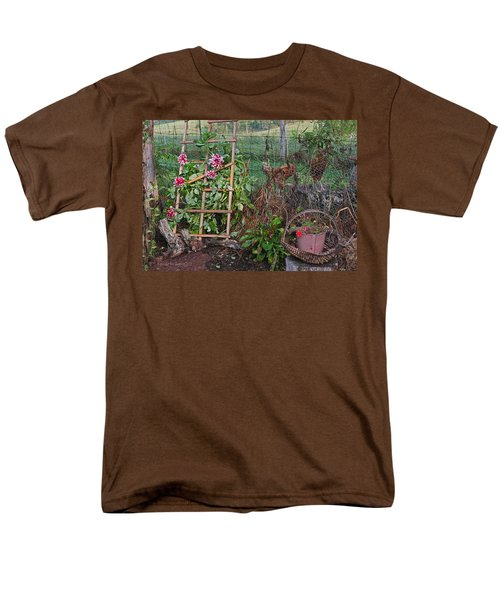 Dahlias And Chickens Men's T-Shirt  (Regular Fit)