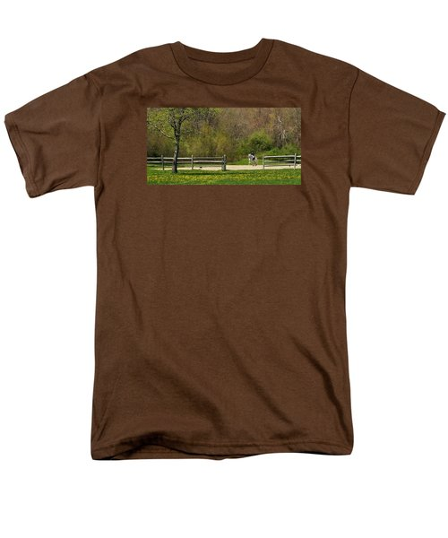 Men's T-Shirt  (Regular Fit) featuring the photograph Dandelion Dressage by Joan Davis