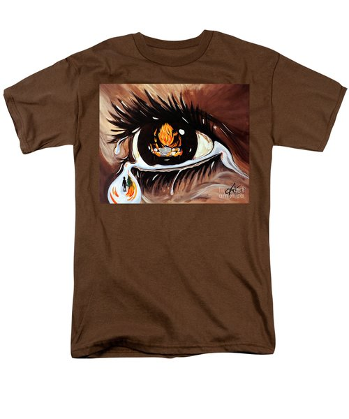 Men's T-Shirt  (Regular Fit) featuring the painting Dark Sorrow  by Jackie Carpenter