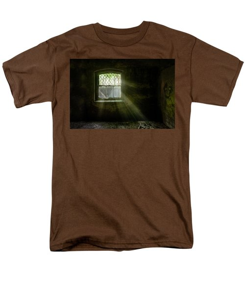 Darkness Revealed - Basement Room Of An Abandoned Asylum Men's T-Shirt  (Regular Fit) by Gary Heller