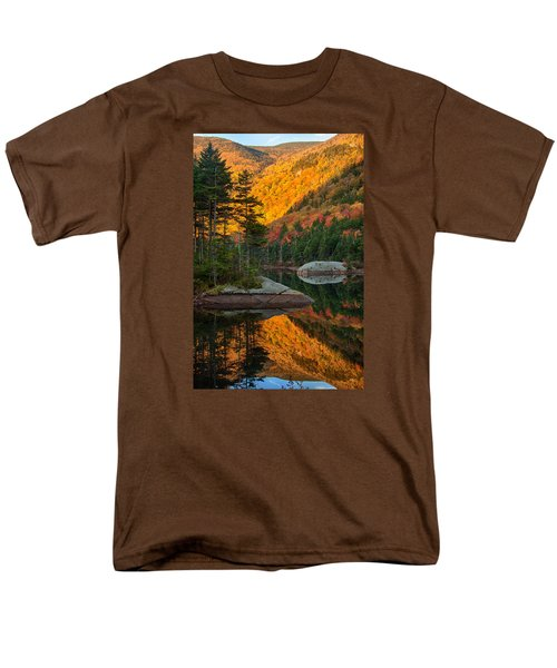 Dawns Foliage Reflection Men's T-Shirt  (Regular Fit) by Jeff Folger