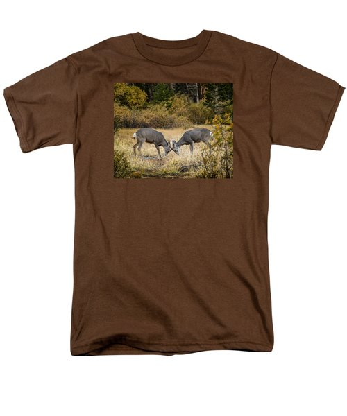 Men's T-Shirt  (Regular Fit) featuring the photograph Deer Games by Janis Knight