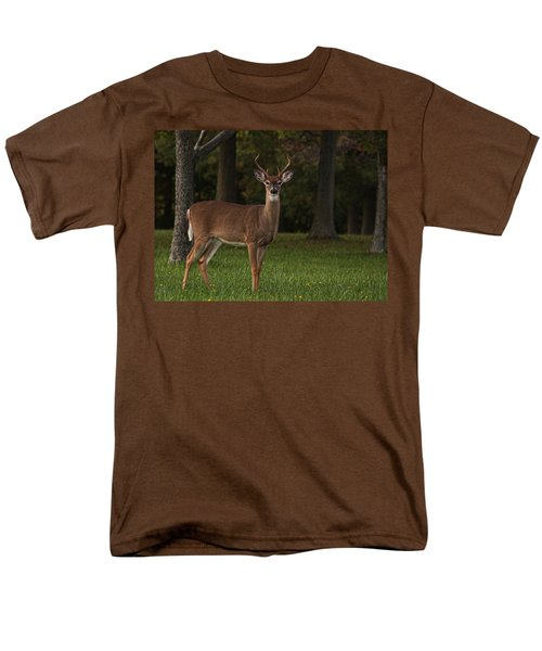 Men's T-Shirt  (Regular Fit) featuring the photograph Deer In Headlight Look by Tammy Espino
