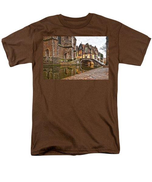 Delft Behind The Church Men's T-Shirt  (Regular Fit) by Frans Blok
