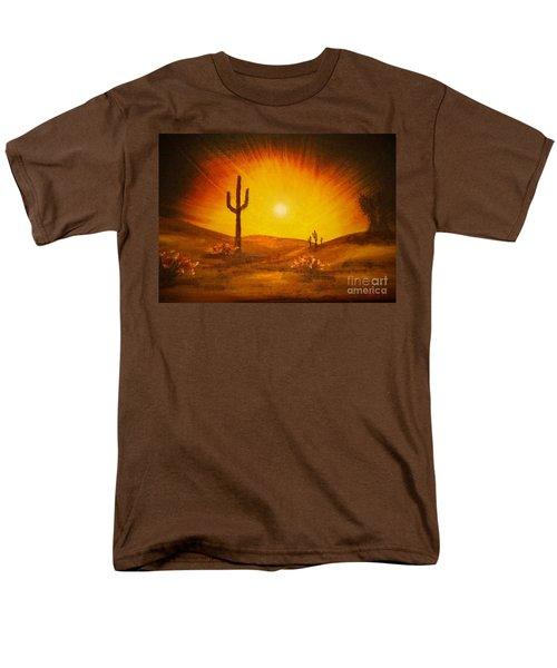 Desert Aglow Men's T-Shirt  (Regular Fit) by Becky Lupe