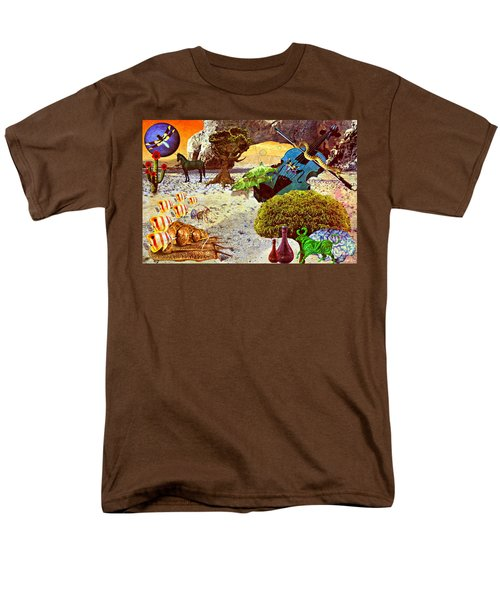 Men's T-Shirt  (Regular Fit) featuring the mixed media Desert Blues by Ally  White
