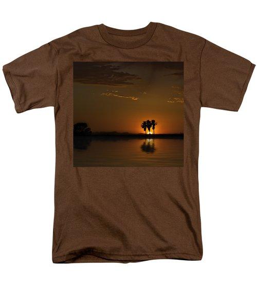 Men's T-Shirt  (Regular Fit) featuring the photograph Desert Sunset by Lynn Geoffroy