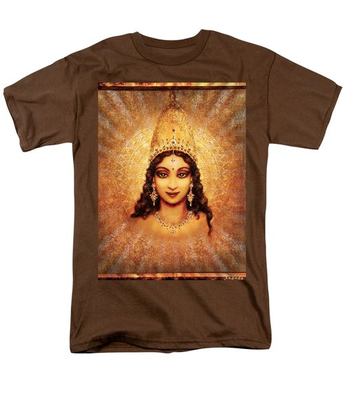 Men's T-Shirt  (Regular Fit) featuring the mixed media Devi Darshan by Ananda Vdovic