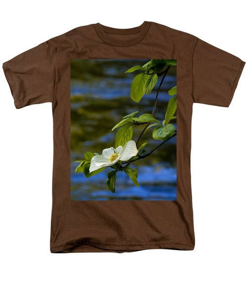 Dogwood On The Merced Men's T-Shirt  (Regular Fit) by Bill Gallagher