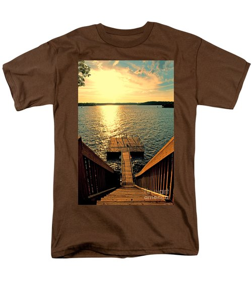 Down To The Fishing Dock - Lake Of The Ozarks Mo Men's T-Shirt  (Regular Fit) by Debbie Portwood