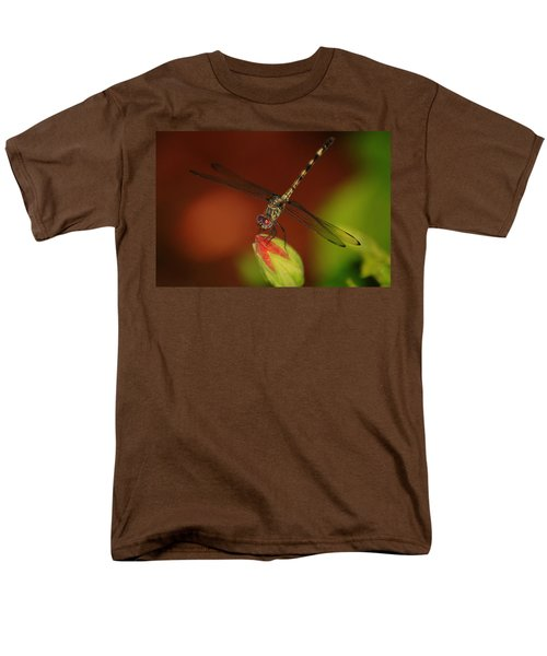Men's T-Shirt  (Regular Fit) featuring the photograph Dragonfly On Hibiscus by Leticia Latocki