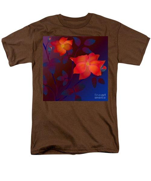 Men's T-Shirt  (Regular Fit) featuring the digital art Dreaming Wild Roses by Latha Gokuldas Panicker