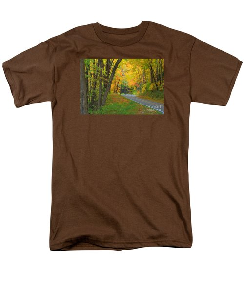 Men's T-Shirt  (Regular Fit) featuring the photograph Driving Into Fall by Geraldine DeBoer