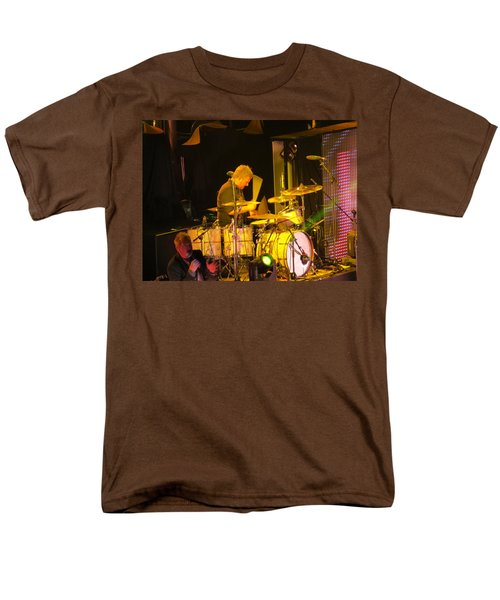 Men's T-Shirt  (Regular Fit) featuring the photograph Drumer For Newsong Rocks Atlanta by Aaron Martens