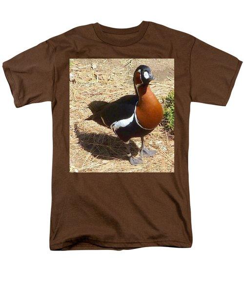 Duck Brown White Black Men's T-Shirt  (Regular Fit) by Susan Garren