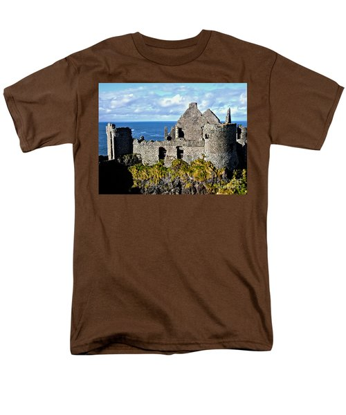 Dunluce Castle Men's T-Shirt  (Regular Fit) by Nina Ficur Feenan