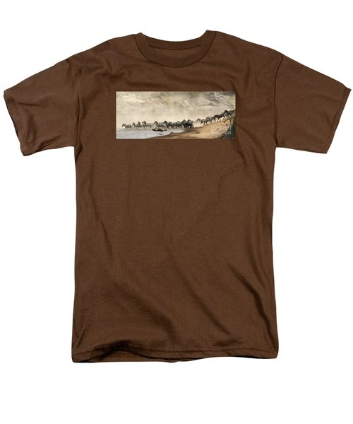 Men's T-Shirt  (Regular Fit) featuring the photograph Dusty Crossing by Liz Leyden