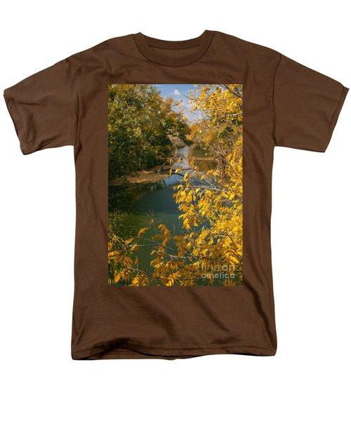 Early Fall On The Navasota Men's T-Shirt  (Regular Fit) by Robert Frederick