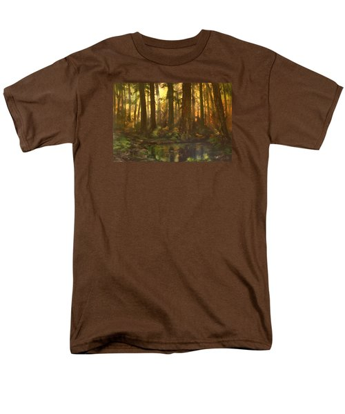 Early Morning Sun On Cannock Chase Men's T-Shirt  (Regular Fit) by Jean Walker
