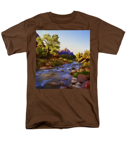 Early Morning Sunrise Zion N.p. Men's T-Shirt  (Regular Fit) by Rich Franco