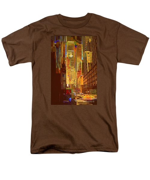 East 45th Street - New York City Men's T-Shirt  (Regular Fit) by Miriam Danar