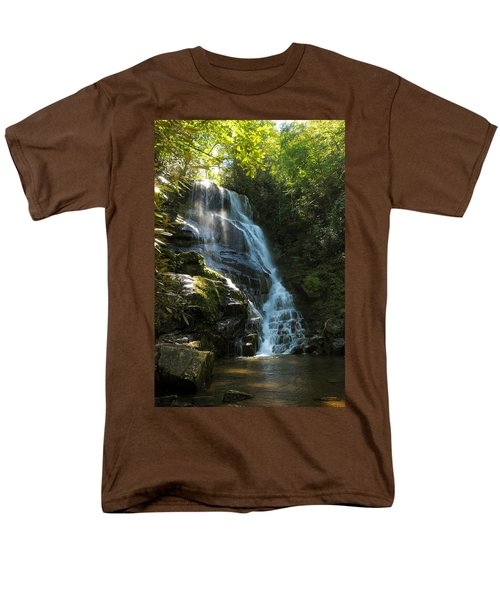 Eastatoe Falls North Carolina Men's T-Shirt  (Regular Fit) by Charles Beeler