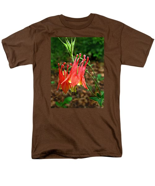 Men's T-Shirt  (Regular Fit) featuring the photograph Wild Eastern Columbine by William Tanneberger