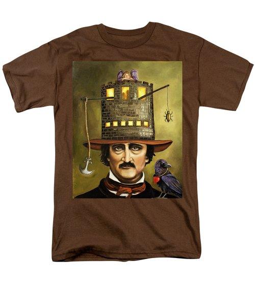 Edgar Allan Poe Men's T-Shirt  (Regular Fit) by Leah Saulnier The Painting Maniac