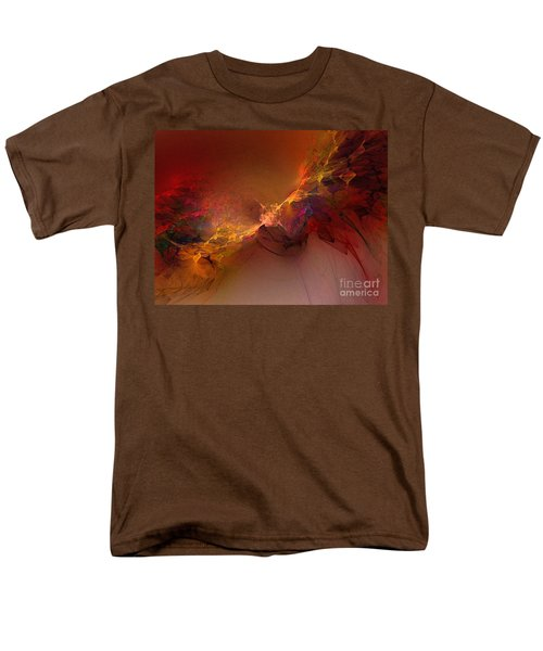 Elemental Force-abstract Art Men's T-Shirt  (Regular Fit) by Karin Kuhlmann