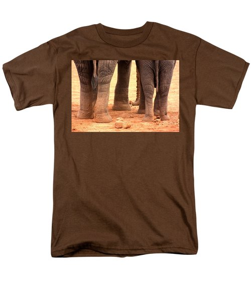 Men's T-Shirt  (Regular Fit) featuring the photograph Elephant Family by Amanda Stadther