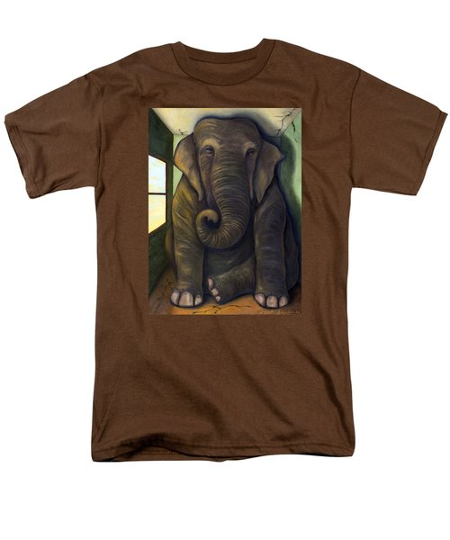 Elephant In The Room Men's T-Shirt  (Regular Fit) by Leah Saulnier The Painting Maniac