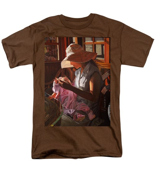 Men's T-Shirt  (Regular Fit) featuring the painting Enfamil At Ha Long Bay Vietnam by Thu Nguyen