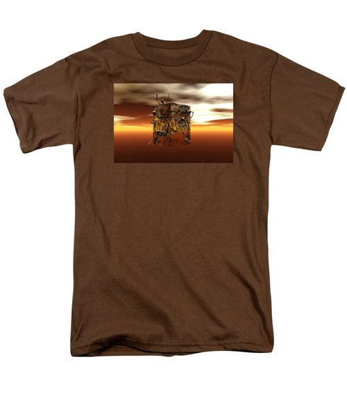 Men's T-Shirt  (Regular Fit) featuring the digital art Escape Attempt by Claude McCoy