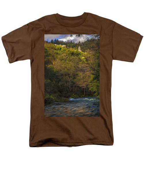 Men's T-Shirt  (Regular Fit) featuring the photograph Eume River Galicia Spain by Pablo Avanzini