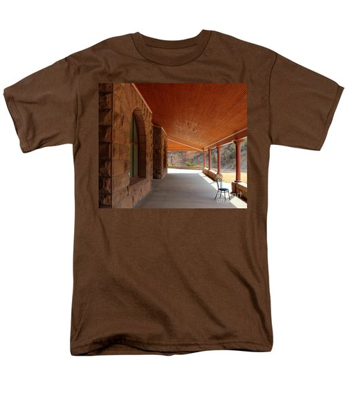 Men's T-Shirt  (Regular Fit) featuring the photograph Evans Porch by Bill Gabbert