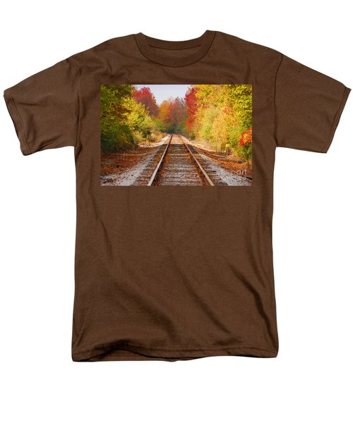 Fading Tracks Men's T-Shirt  (Regular Fit) by Mary Carol Story