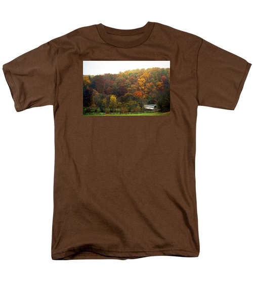 Fall At Valley Forge Men's T-Shirt  (Regular Fit) by Skip Willits