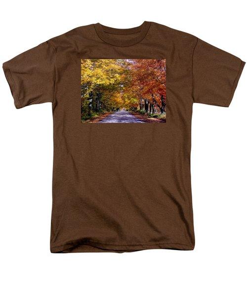 Fall Colors Near Sister Bay Men's T-Shirt  (Regular Fit) by David T  Wilkinson