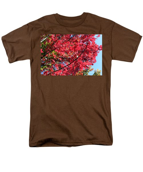 Men's T-Shirt  (Regular Fit) featuring the photograph Fall In Illinois by Debbie Hart