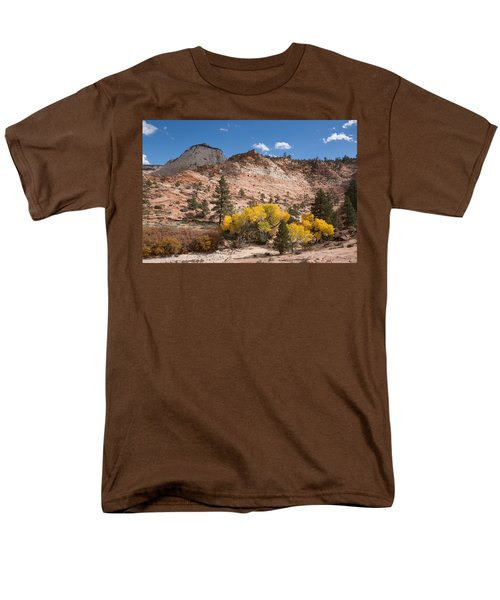 Men's T-Shirt  (Regular Fit) featuring the photograph Fall Season At Zion National Park by John M Bailey