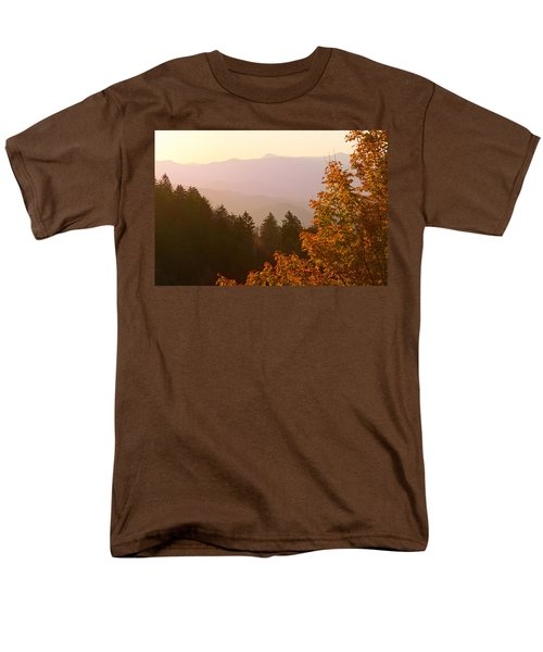 Fall Smoky Mountains Men's T-Shirt  (Regular Fit) by Melinda Fawver