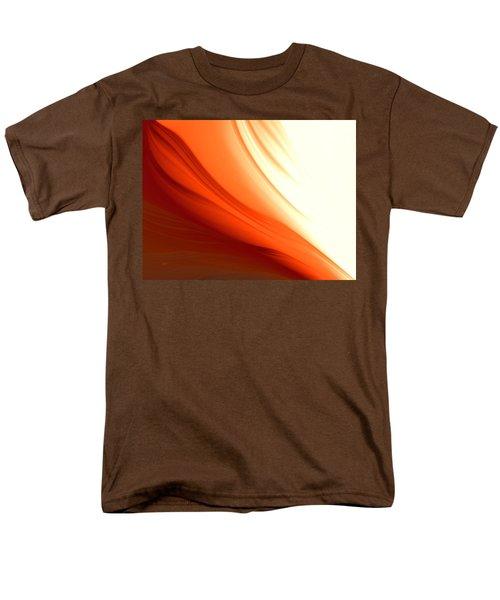 Men's T-Shirt  (Regular Fit) featuring the digital art Glowing Orange Abstract by Gabriella Weninger - David