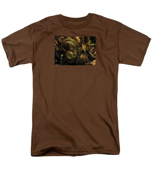 Fern Headdress Men's T-Shirt  (Regular Fit) by Jean OKeeffe Macro Abundance Art