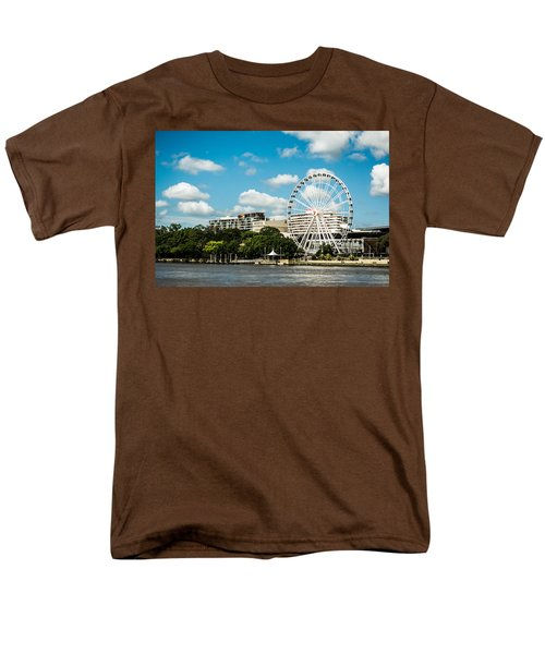 Ferris Wheel On The Brisbane River Men's T-Shirt  (Regular Fit) by Parker Cunningham