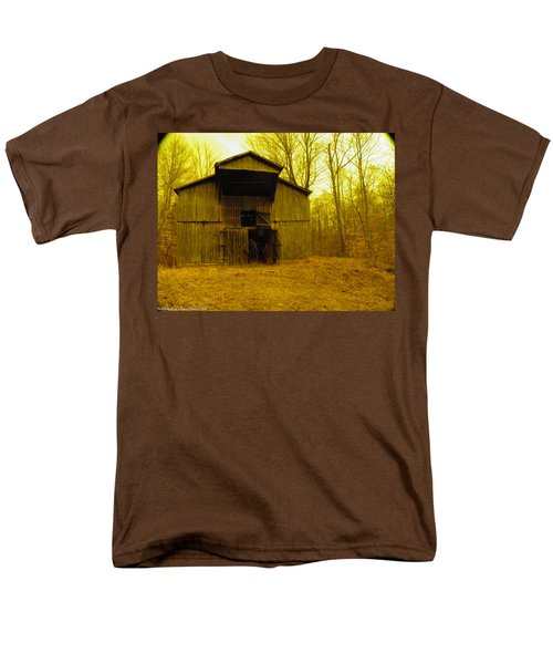 Men's T-Shirt  (Regular Fit) featuring the photograph Filtered Barn by Nick Kirby