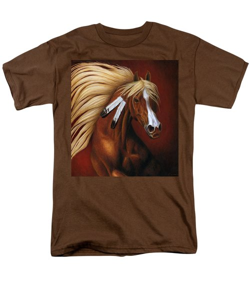Men's T-Shirt  (Regular Fit) featuring the painting Fire Dance by Pat Erickson