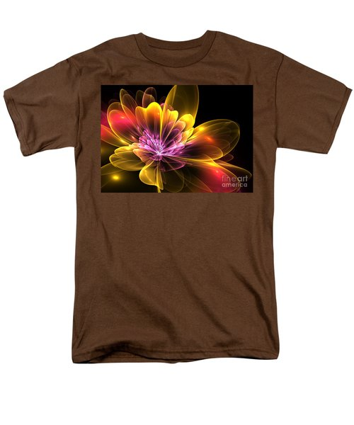Men's T-Shirt  (Regular Fit) featuring the digital art Fire Flower by Svetlana Nikolova