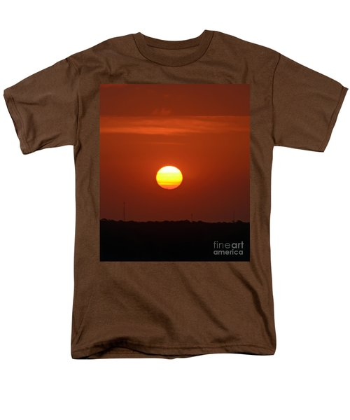 Men's T-Shirt  (Regular Fit) featuring the photograph Fire In The Sky by Kerri Farley