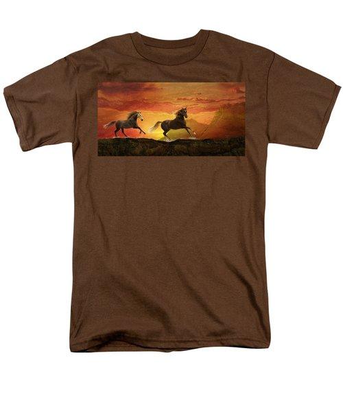 Fire Sky Men's T-Shirt  (Regular Fit) by Melinda Hughes-Berland